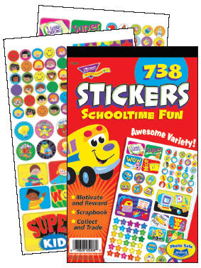 Schooltime Fun Sticker Reward Pad - Assorted - Pad of 738