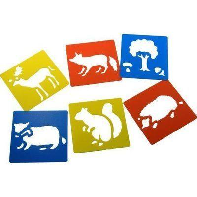Woodland Washable Stencils - Assorted - Pack of 6