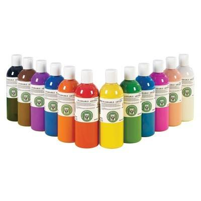 Schoolcraft Washable Paint - 500ml - Assorted - Pack of 12