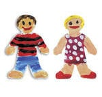 Finger Paint Cut-Out Paper - Little People - 19 x 36cm - Pack of 36