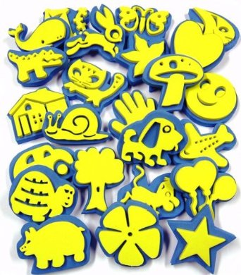 Foam Painting Shaped Stampers - Assorted - Pack of 24