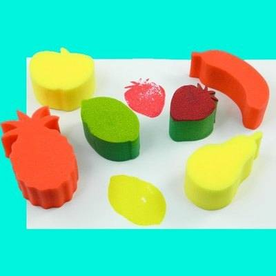 Fruit Painting Sponges - Assorted - Pack of 6