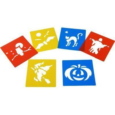 Halloween Washable Stencils - Assorted - Pack of 6