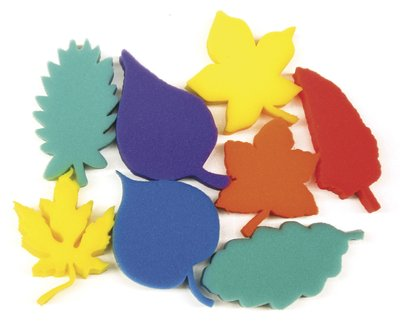Leaves Painting Sponges - Assorted - Pack of 8
