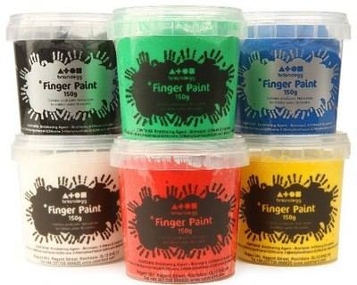 Finger Paint - Assorted - Pack of 6 x 500ml