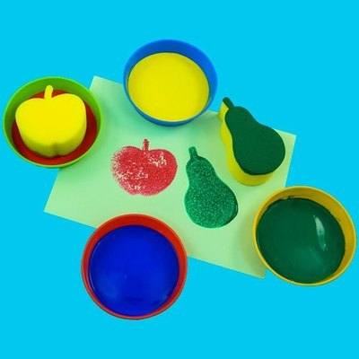 Sponge Dip Bowl - Assorted - Pack of 4