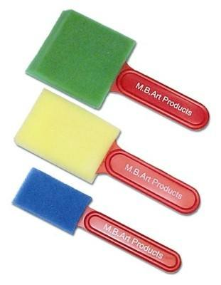 Sponge Painting Brushes - Assorted - Pack of 3