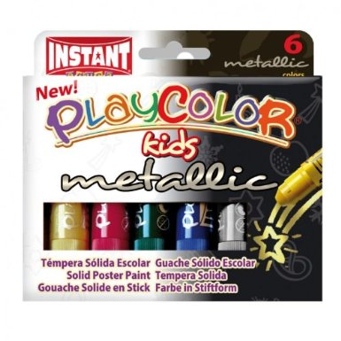 Playcolor Metallic Painting Sticks - Assorted - Pack of 6