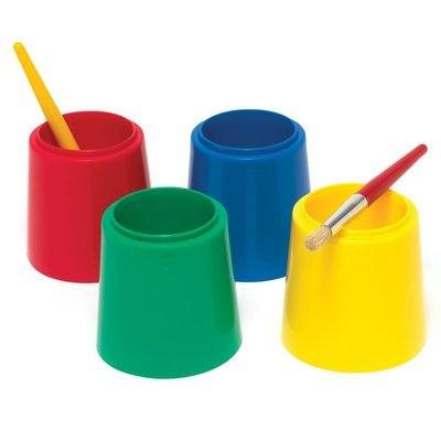 Stable Water Pots - Assorted Colours - Pack of 10