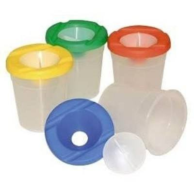 Traditional Non-Spill Water Pots - Assorted - Pack of 10