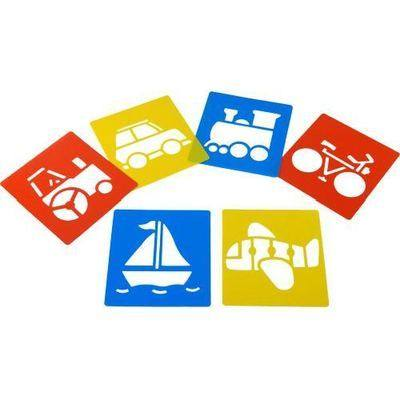 Transport Washable Stencils - Assorted - Pack of 6