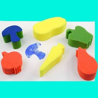 Vegetable Painting Sponges - Assorted - Pack of 6