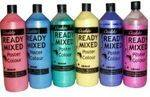 Ocaldo Pearlescent Ready Mixed Paint Set - Assorted - Pack of 6