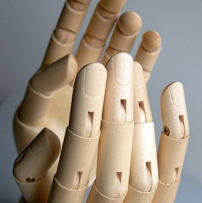 Wooden Hand Manikin - 175mm - Each