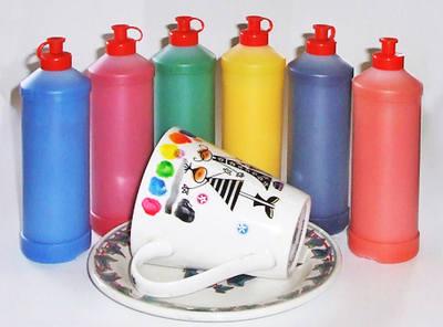 Ceramic Paint Set - Assorted - Pack of 6