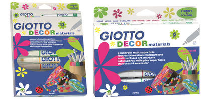 Giotto Decor Pens - Assorted - Pack of 12