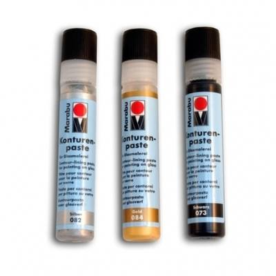 Glass Relief Paint Outliners - Gold - 25ml - Each