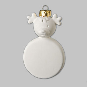 Paint It Yourself Ceramics - Reindeer Tree Decoration - Each