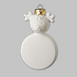 Paint It Yourself Ceramics - Reindeer Tree Decoration - Each
