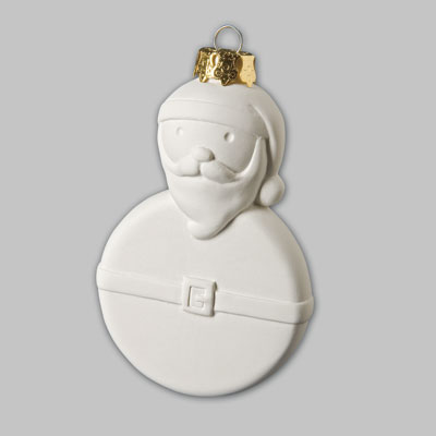 Paint It Yourself Ceramics - Santa Tree Decoration - Each