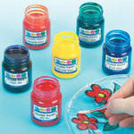 Glass Paint - Assorted - Pack of 8 x 50ml