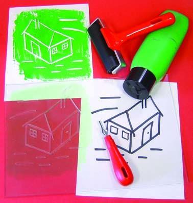 Transparent Polymer Printing Blocks (Imitation Lino) - 15 x 10cm - Pack of