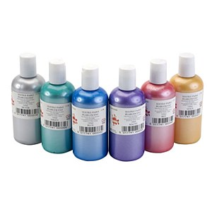 Pearlescent Textile Paint - Assorted - Pack of 6 x 150ml