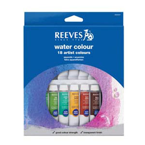 Reeves Water Colour Paint Set - Assorted - Pack of 18