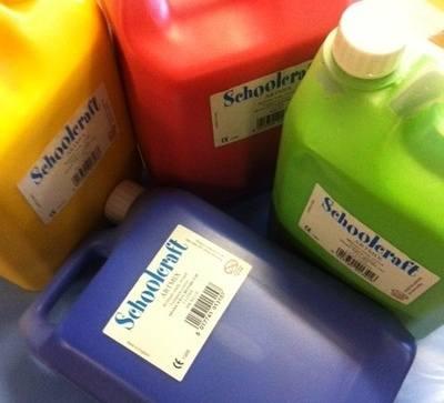 Schoolcraft Ready Mixed Paint - Yellow Ochre - 5 Litres - Each