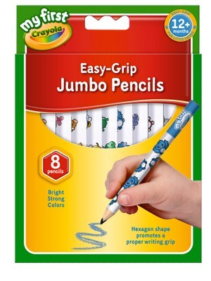 Crayola Jumbo Decorated Pencils - Assorted - Pack of 8 - 1 Year +