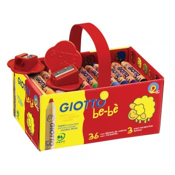 Giotto Be-Be Super Soft Pencils - Assorted - Schoolpack of 36 - 2 Years +