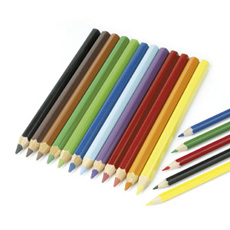 Schoolcraft Jumbo Colouring Pencils - Assorted - Pack of 12