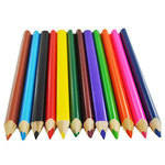 Schoolcraft Triangular Colouring Pencils - Assorted - Pack of 12