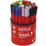 Berol Colour Broad Colouring Pens - Assorted - Tub of 42