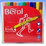 Berol Colour Brush Colouring Pens - Assorted - Pack of 12