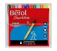 Berol Handhugger Colouring Pens - Assorted - Pack of 12