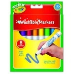 Crayola Beginners Mini Kids Markers - Assorted - Pack of 8 - 1 year+