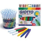 Giotto Turbo Maxi Colouring Pens - Assorted - Pack of 12