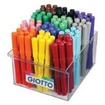 Giotto Turbo Maxi Colouring Pens - Assorted - School Pack of 108