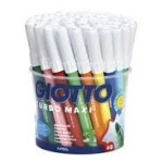 Giotto Turbo Maxi Colouring Pens - Assorted - Tub of 48