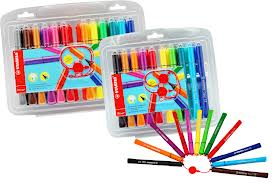 Stabilo Cappi Colouring Pens - Assorted - Pack of 24