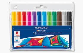 Staedtler Jumbo Colouring Pens - Assorted - Pack of 12