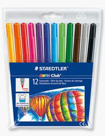 Staedtler Noris Fibre Tipped Pens - Assorted - Pack of 12