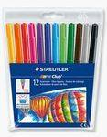 Staedtler Noris Club Fibre Tipped Pens - Assorted - Pack of 12