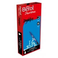 Berol Dry-Wipe Pens - Broad Tip - Pack of 12