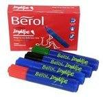Berol Dry Wipe Markers - Assorted - Pack of 4
