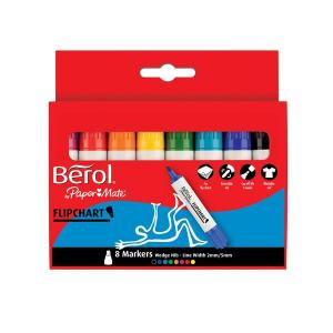 Berol Flipchart Markers - Assorted - Pack of 8