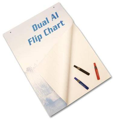 Dual A1 Flip Chart - Pad of 30 Sheets - Each