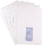 White Window Envelopes - C5 - Self-Seal - 90gsm - Pack of 500