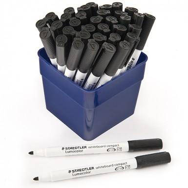 Staedtler Lumocolor Whiteboard Pens - Black - Pack of 36